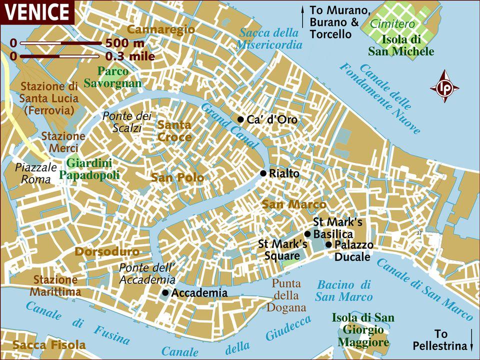 Venice Neighborhoods (Sestieri) Map and Travel Tips