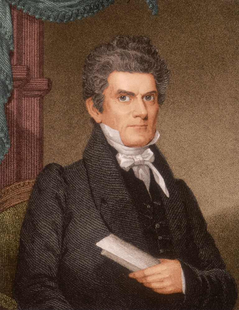 Lithographic portrait of John C. Calhoun