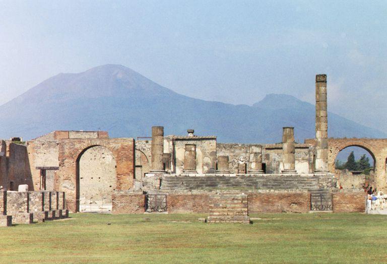 Vesuvius as seen from Pompeii