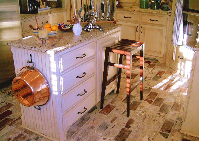 rustic kitchen flooring. Whitewashed Brick Flooring In a Rustic Kitchen Pictures  Hardwood Vinyl and More
