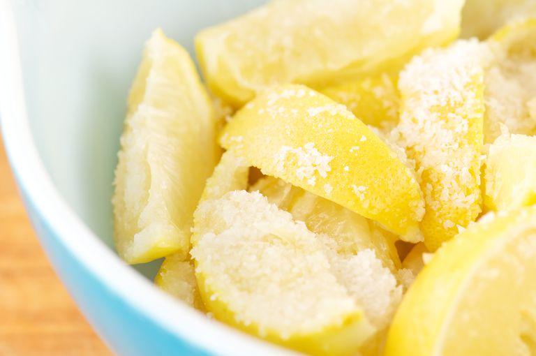 Homemade Preserved Lemons with Salt