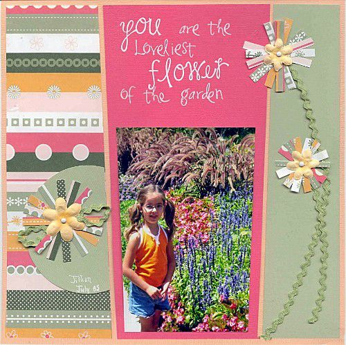Ric Rac Stems for Scrapbook Pages