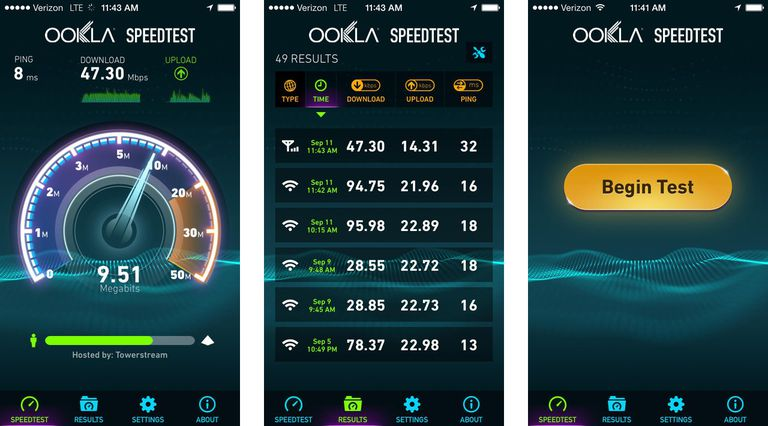 Ookla speed test for iPhone/iOS