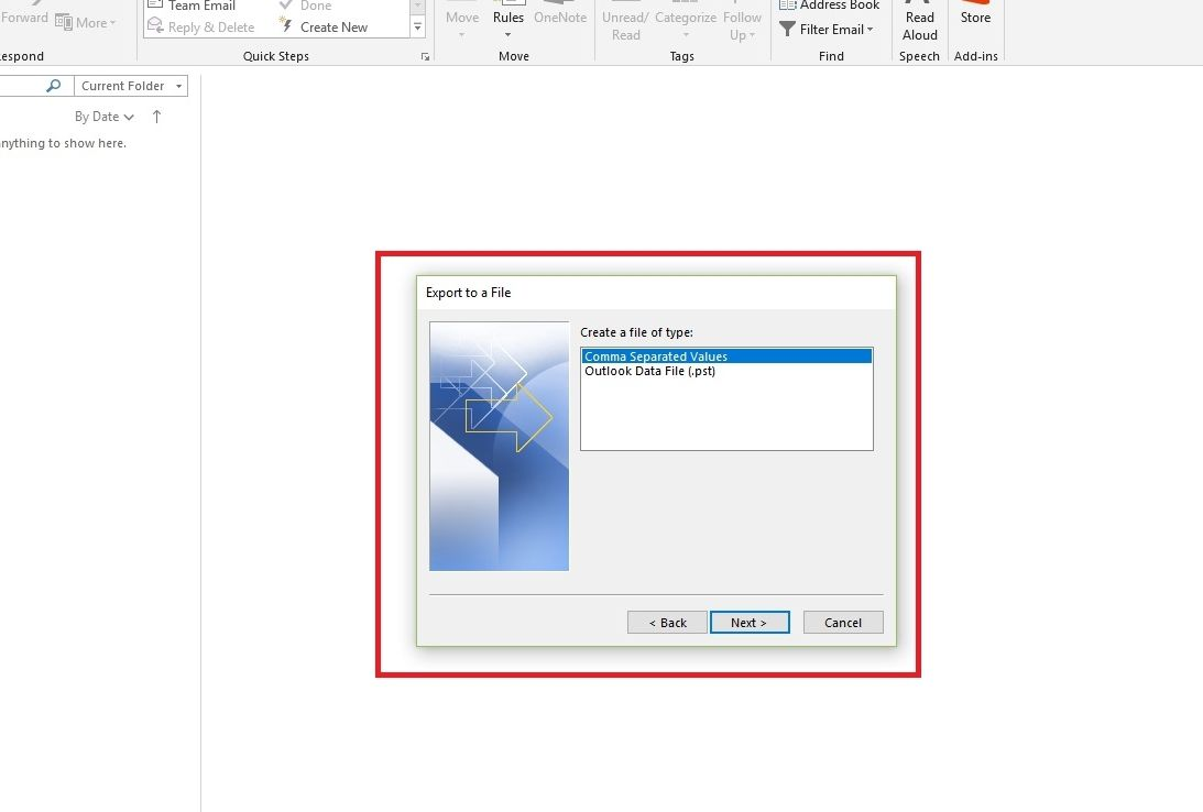 Export Outlook Emails to Microsoft Excel