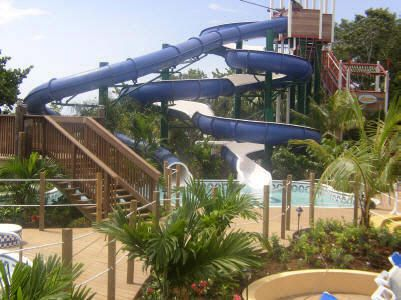 Water slide, Beaches Negril, Jamaica. Photo courtesy of Beaches Resorts.
