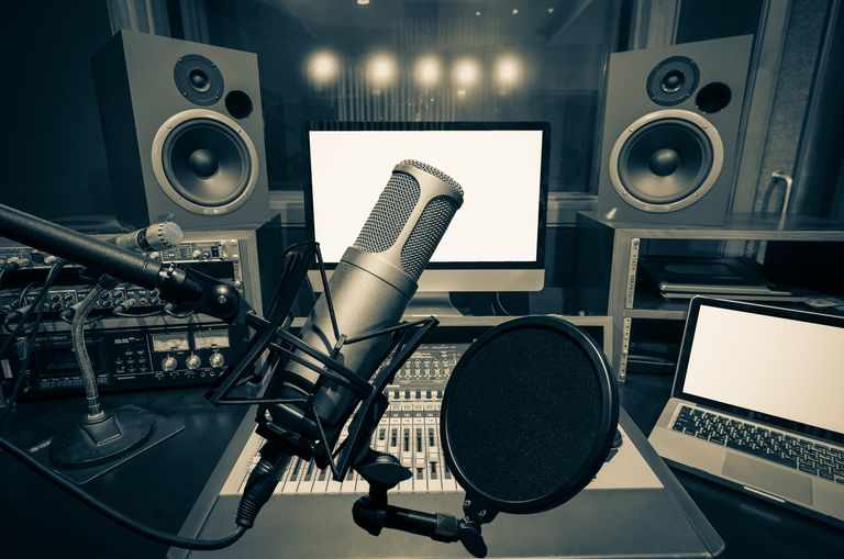 Podcast recording studio