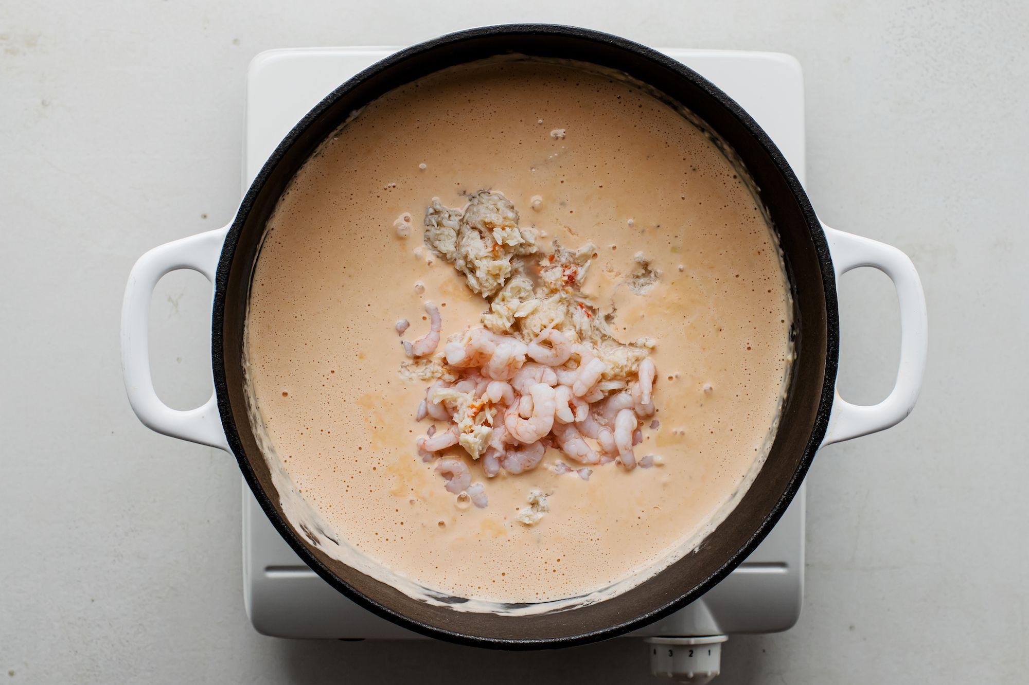Crab and Shrimp Seafood Bisque Recipe