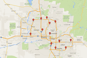 phoenix light rail station locations and map. Black Bedroom Furniture Sets. Home Design Ideas