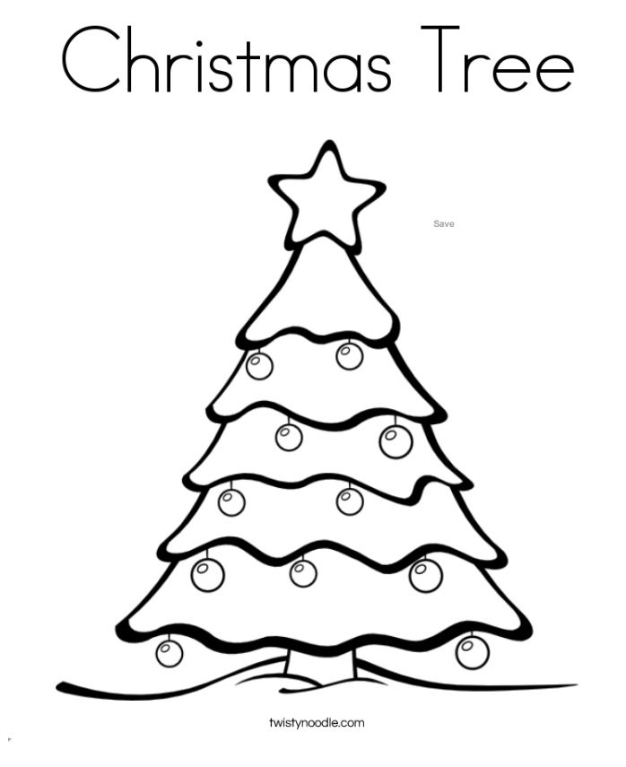twisty noodles christmas coloring pages for kids a decorated christmas tree - Christmas Coloring Sheets Kids
