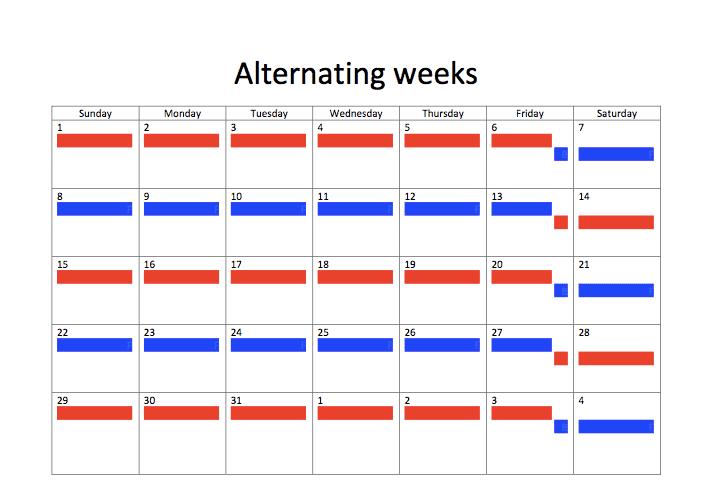 50 50 parenting plan examples