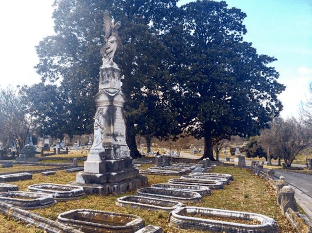 Monument at Elmwood Cemetery in Memphis