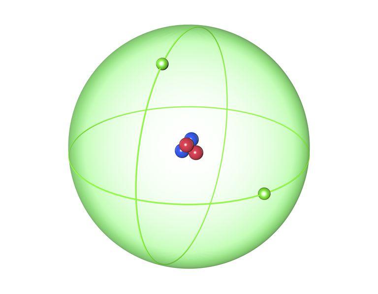 Helium element illustration