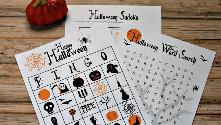 halloween bingo game from growing up gabel - Preschool Halloween Bingo
