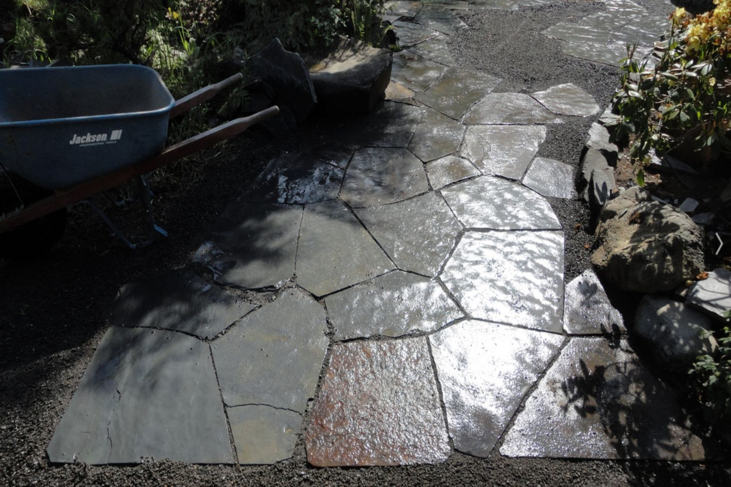 Smooth Tight Flagstone Pathway