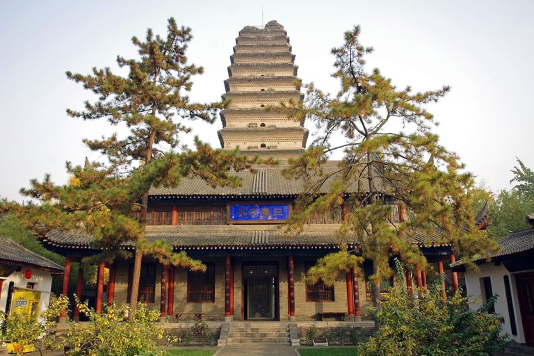 The Small Wild Goose Pagoda, located in Xian, China, was built in the year 707 A.D during the Tang Dynasty