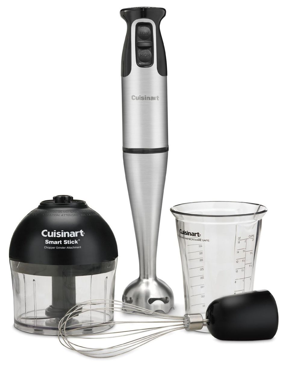 "A ""Cuisinart Stick Blender and Chopper"" on white space"