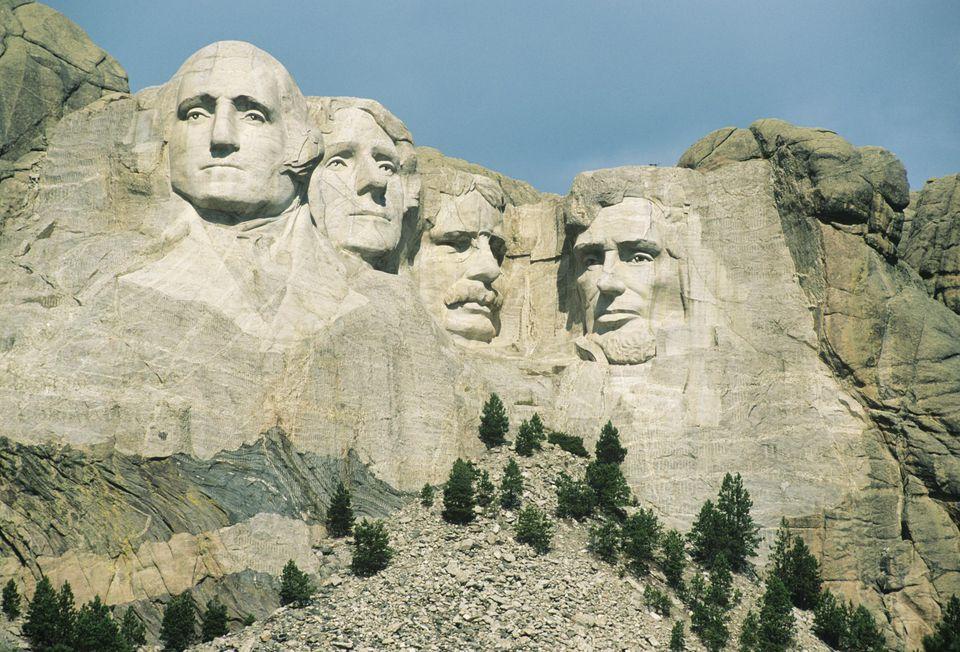 USA, South Dakota, Black Hills, Mt. Rushmore National Monument, close-up