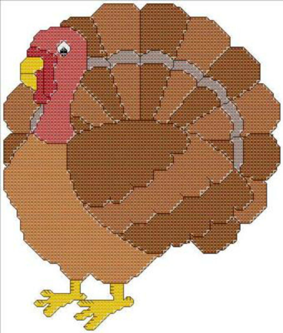 thanksgiving turkey cross stitch pattern