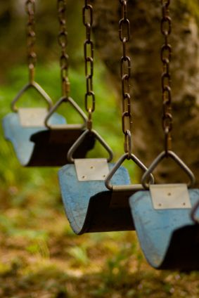 picture of swings on a playground