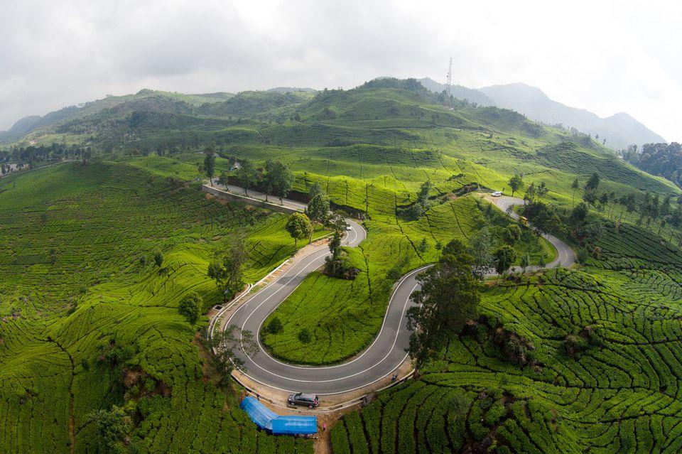 Winding Ciwidey road from Bandung, Indonesia