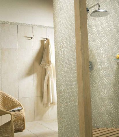 shower tile of two different sizes - Bathroom Tile Ideas Design