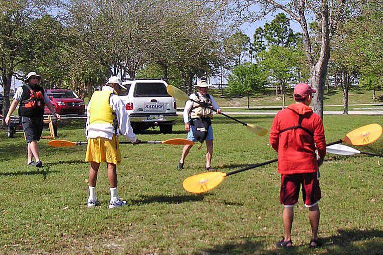A Kayak Instructor Teaches His Class