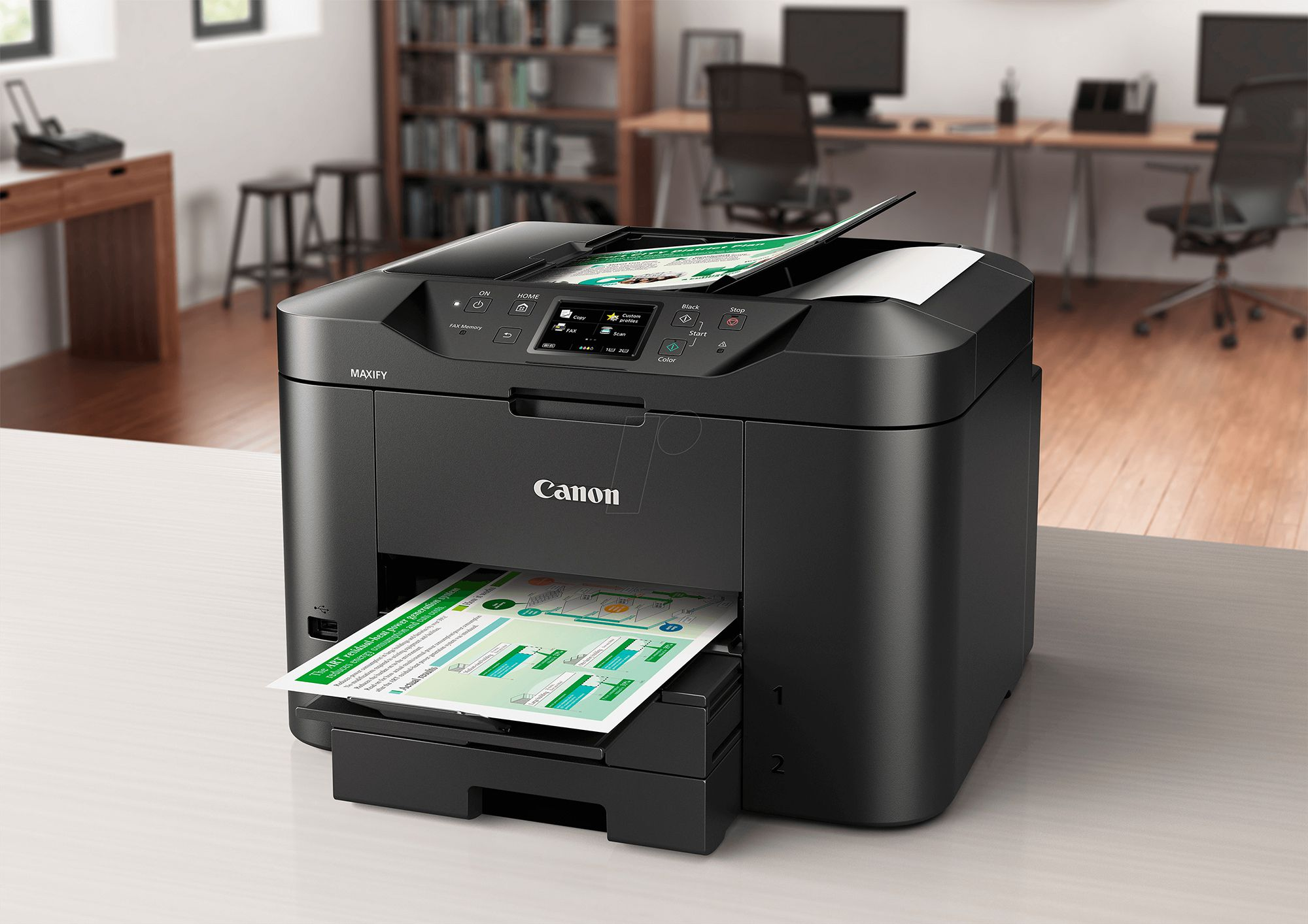 canon maxify mb2720 wireless home office inkjet printer