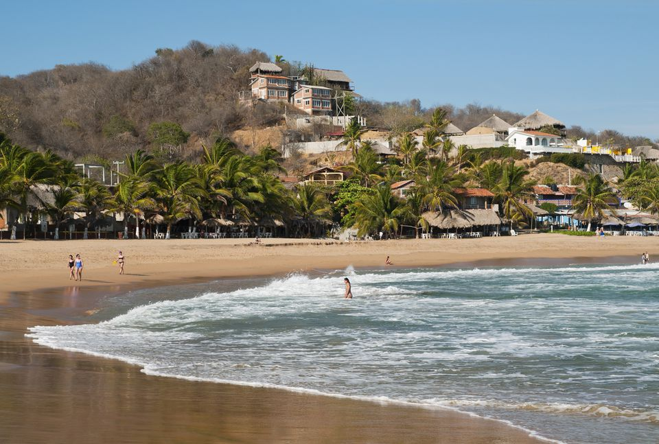 The beach at San Agustinillo.