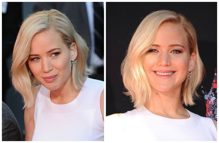 Jennifer Lawrence blonde bob