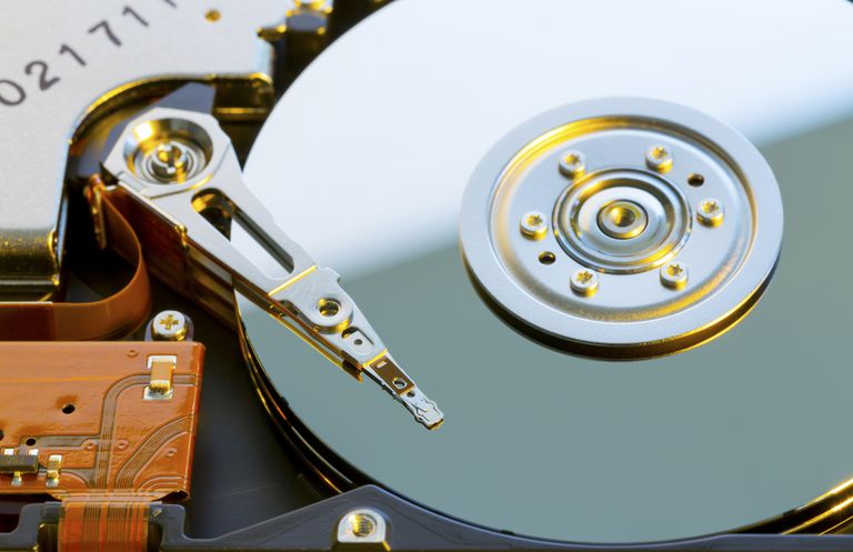 Picture of a hard disc drive