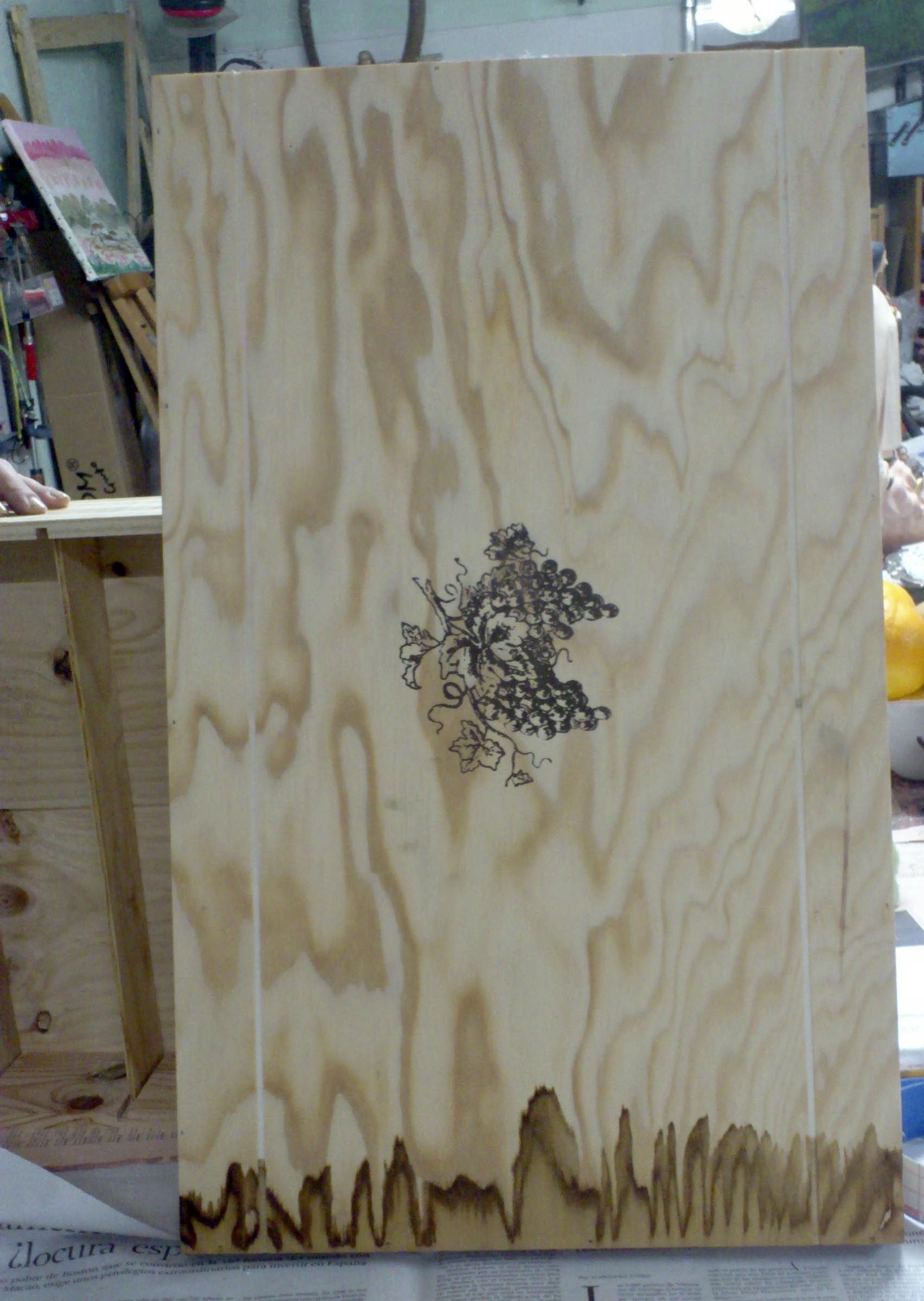 Reciclar una caja de madera en un armario peque o - Como hacer una caja de madera paso a paso ...