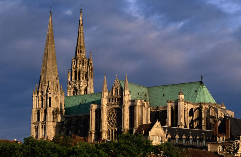 North Side Of Cathedral Notre Dame De Chartres France Architecture