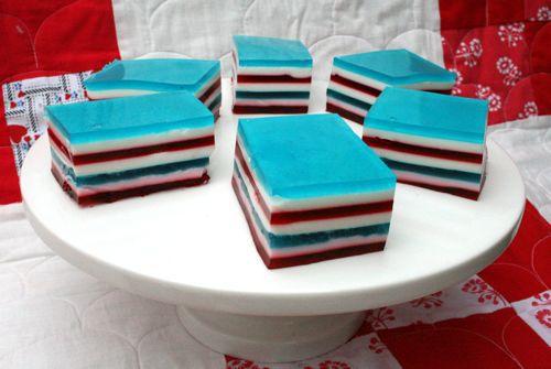 4th of July Dessert, Jello Recipe, 4th of July Jello, red white and blue dessert, red white and blue