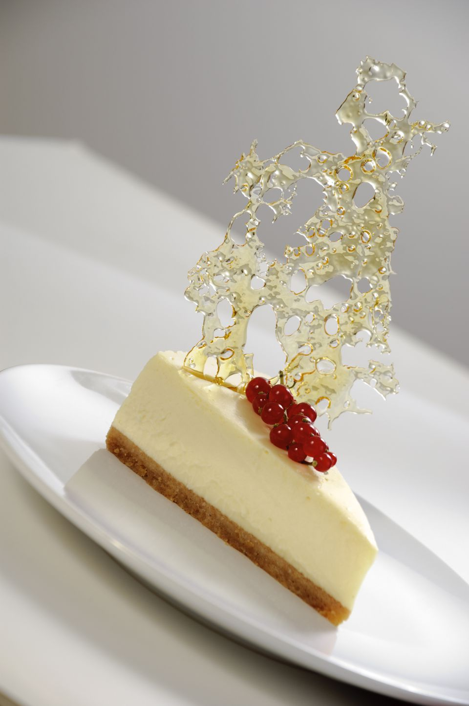 Cheesecake with bubble sugar