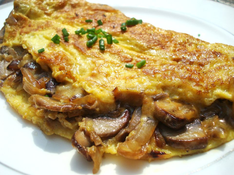 Mushroom and Onion Omelet