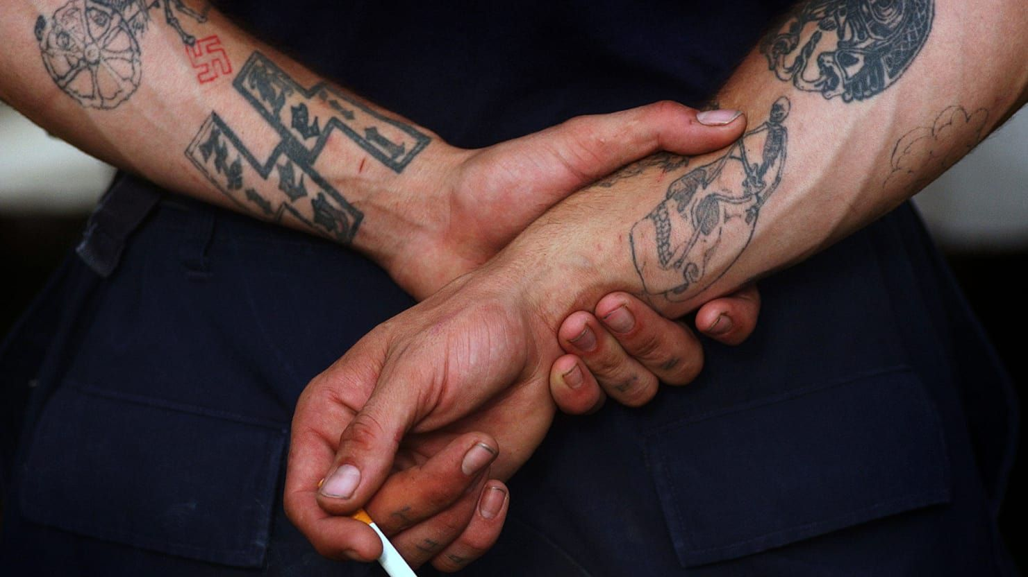 Photos symbols and meanings of gang tattoos the aryan brotherhood profile of one of the most notorious prison gangs biocorpaavc