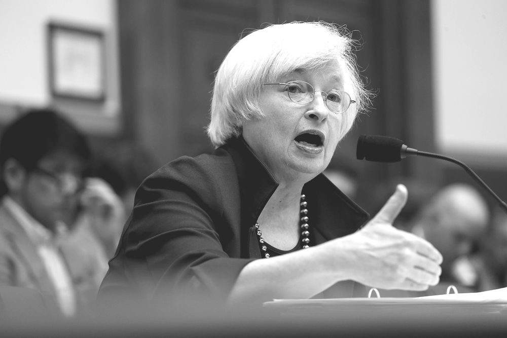 15: Federal Reserve Board Chairwoman Janet Yellen testifies before the House Financial Services Committee July 15, 2015 in Washington, DC. Yellen told the committee that the Fed is still set to raise short-term interest rates this year due to an improving domestic economy and despite a host of global threats, according to published reports.