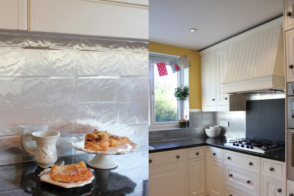Stainless Contact Paper. Stainless-steel-kitchen-backsplash