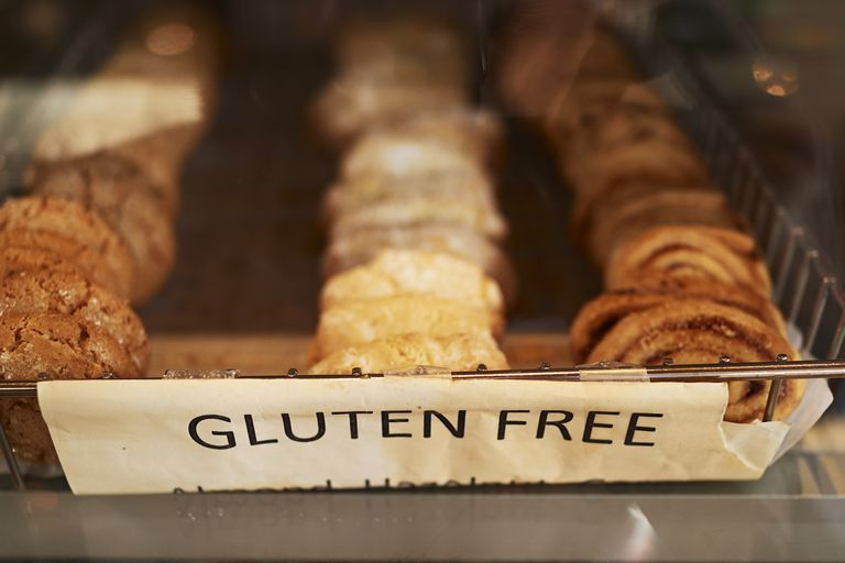 A tray of gluten-free pastries.