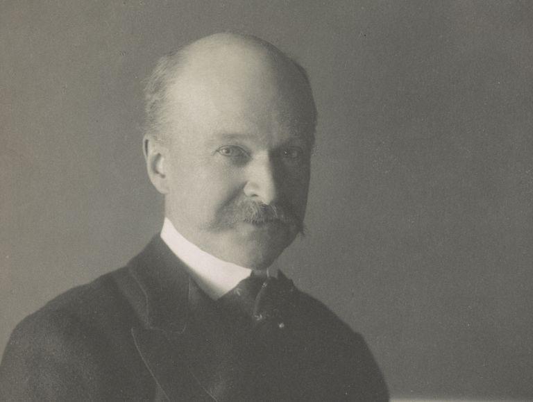 Sepia portrait of 19th century architect Charles Follen McKim by Frances Benjamin Johnston