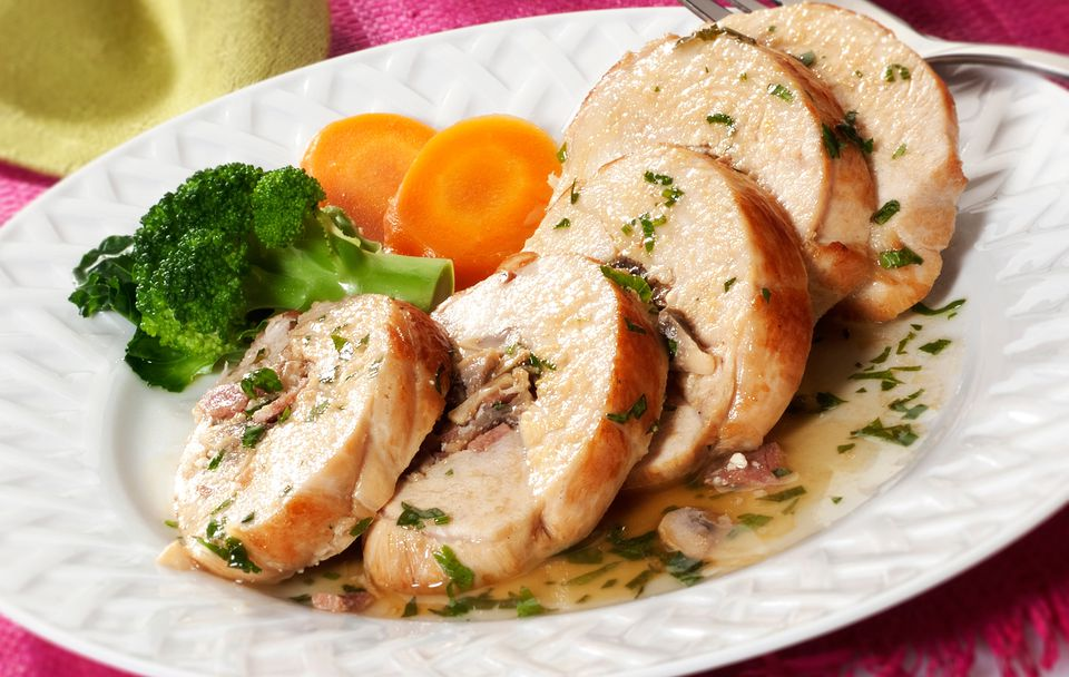 Chicken Breasts Stuffed With Cheese And Mushrooms Recipe