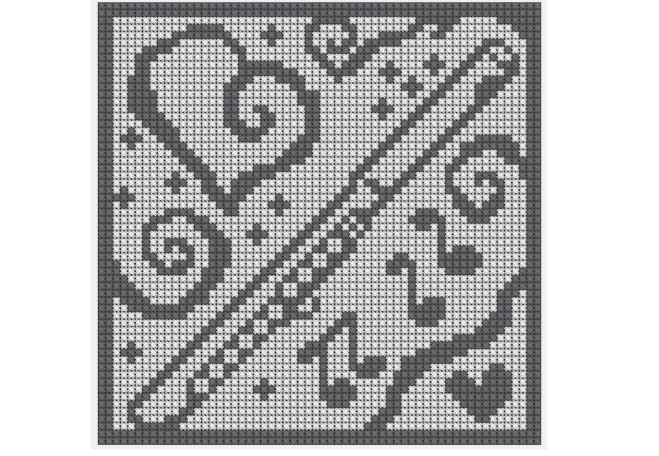 Flute Music Crochet Chart