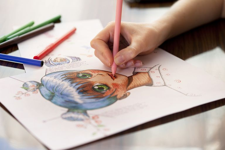 Line Drawing Santa Face : Draw a manga face with these easy steps