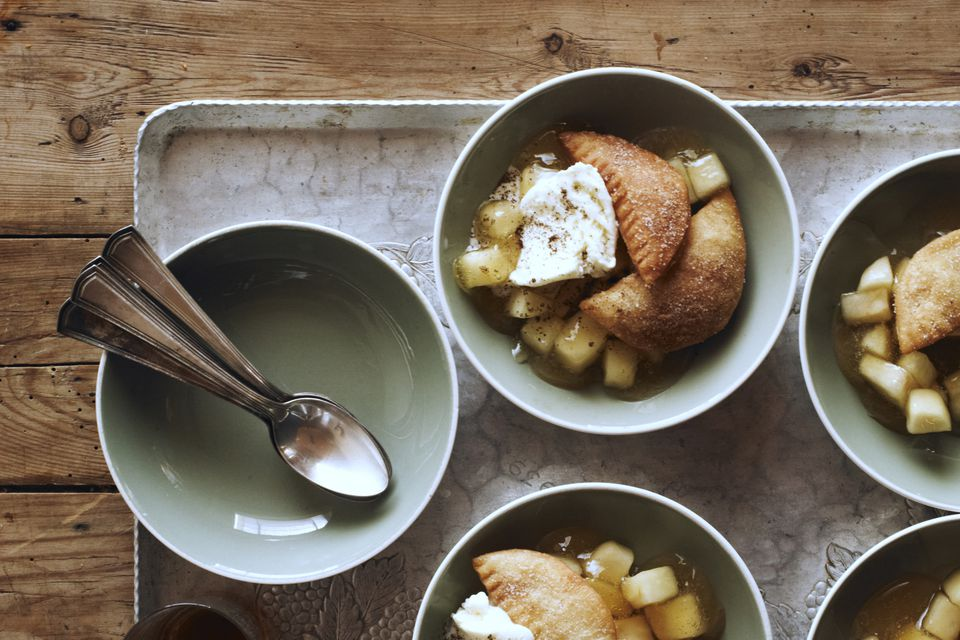 Fried Apple Pies Over Fresh Fried Apples