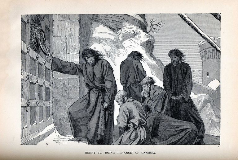 Henry IV Doing Penance at Canossa, 1882