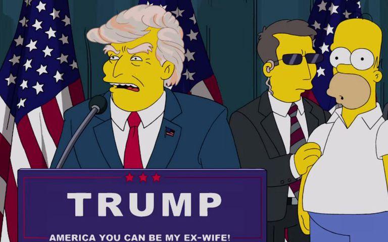 Simpsonized Donald Trump