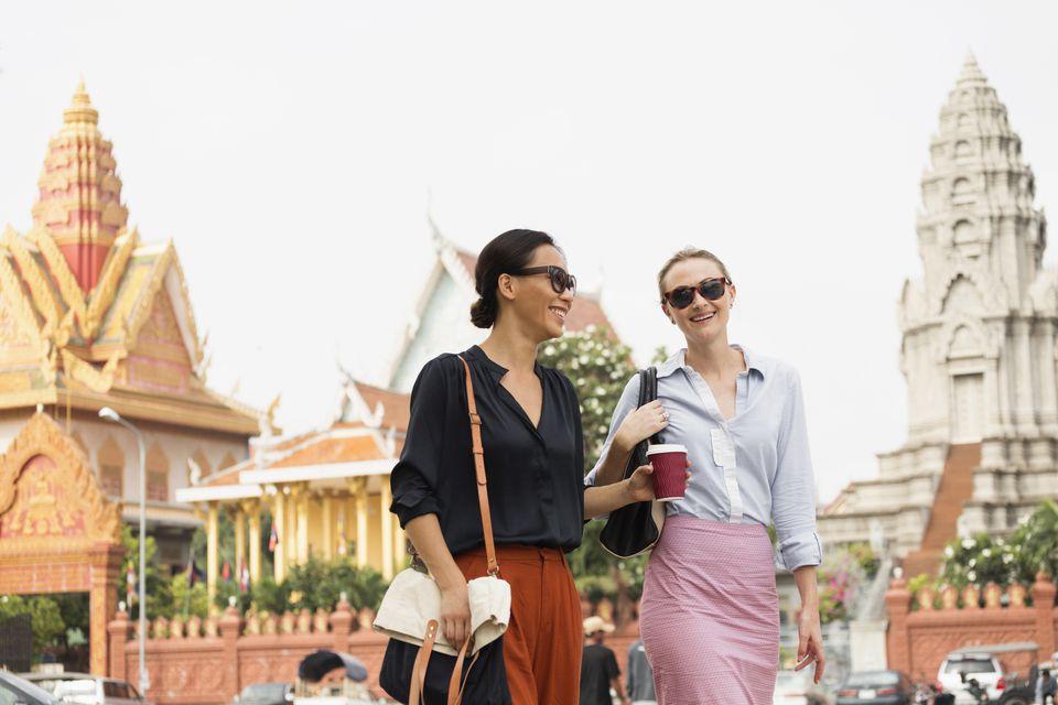 Tourists exploring Phnom Penh