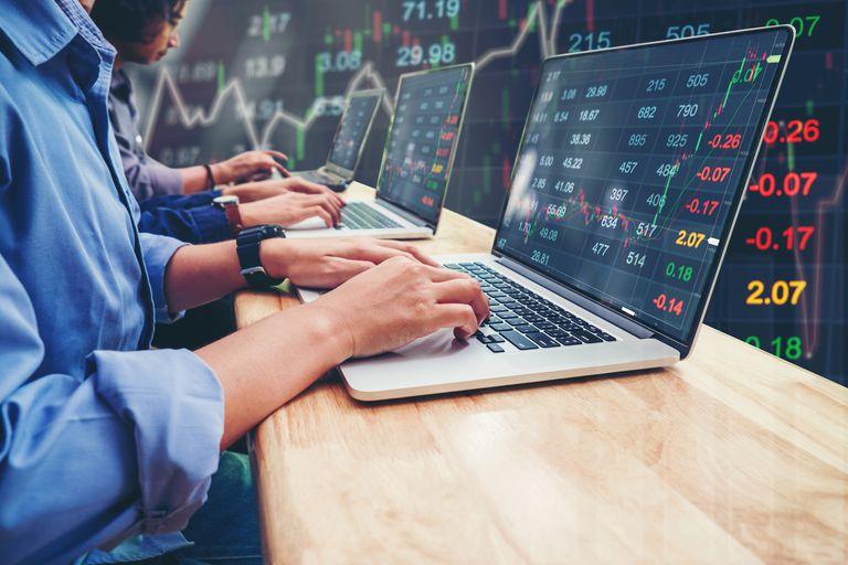 Business Team Investment Entrepreneur Trading working on Laptop