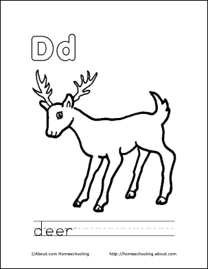 Letter D Coloring Book Free Printable Pages Coloring Letter Dd