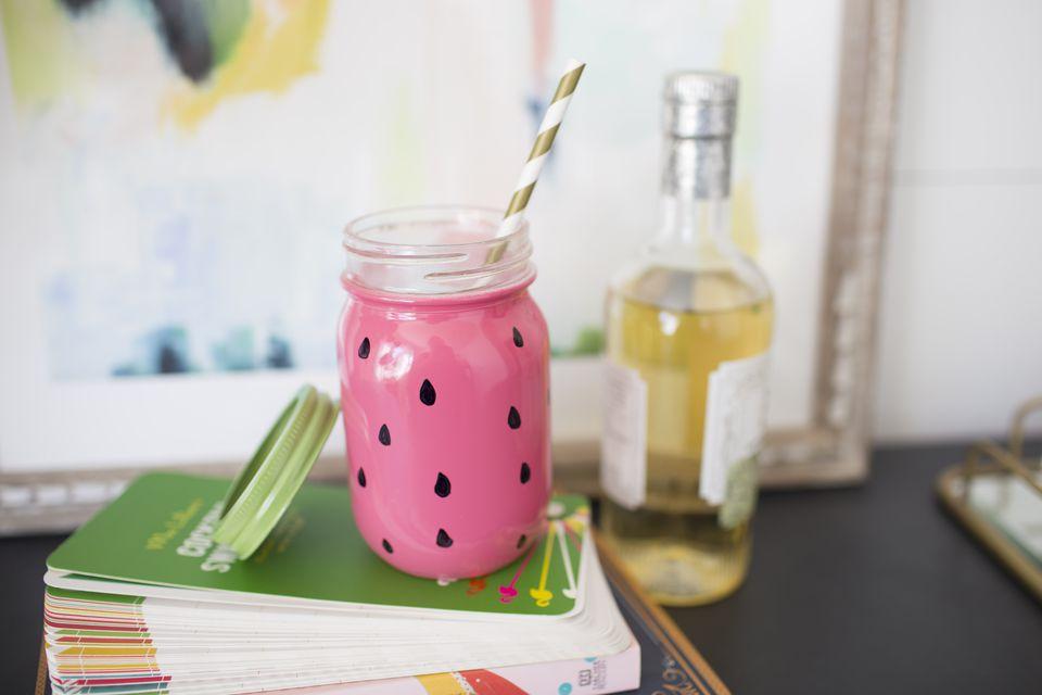 final watermelon mason jar - Mason Jar Diy